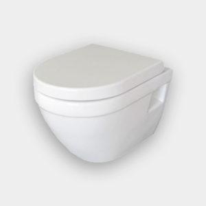 Lavabo Stelvio Væghængt toilet Inkl Sæde Hvid m softclose 490x370 mm.