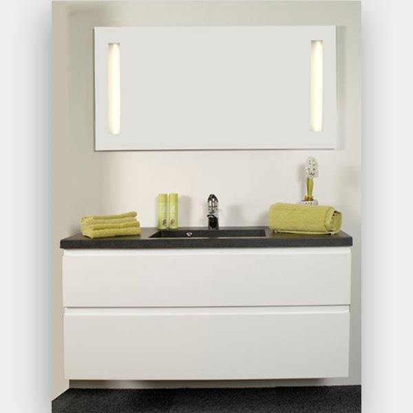 Hvid højglans grebsfri – Sort vask 1