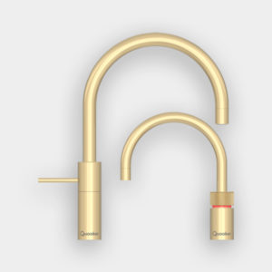 Quooker Nordic Round Twintaps i Messing med COMBI beholder