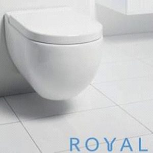 Royal One, T1 væghængt toilet inkl. soft close toiletsæde