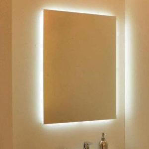 Spejl med Backlight