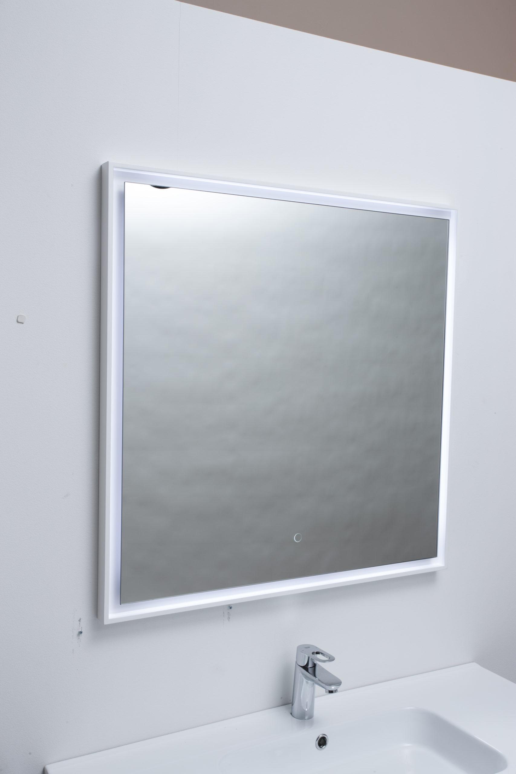 Picture of: Spar Nu 50 Pa Fano Spejl I Hvid Ramme Firkantet Fano Spejl I Ramme