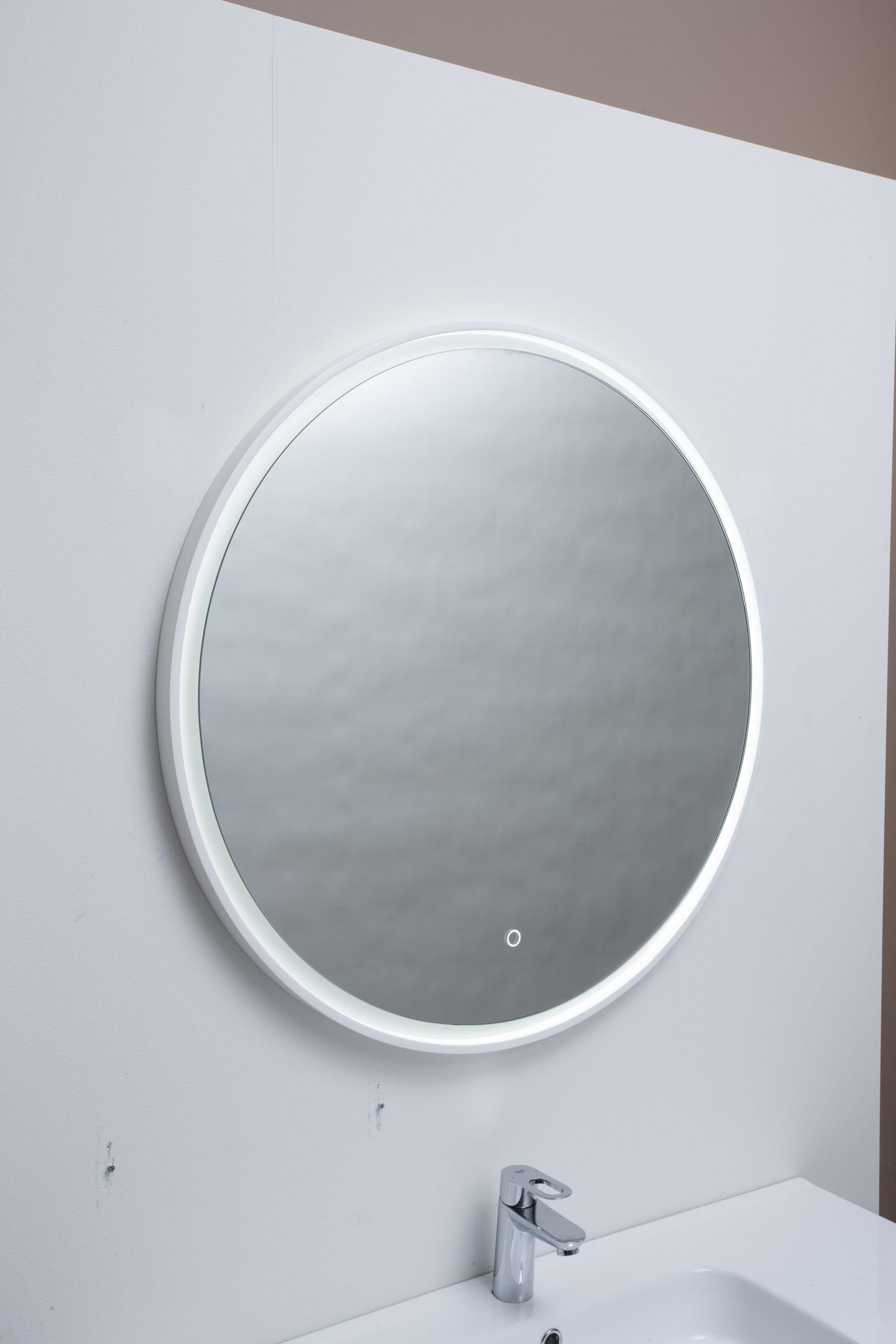 Picture of: Fano Spejl O80 Med Led Lys Ramme Spar 50 Pa Fano Spejl I Ramme